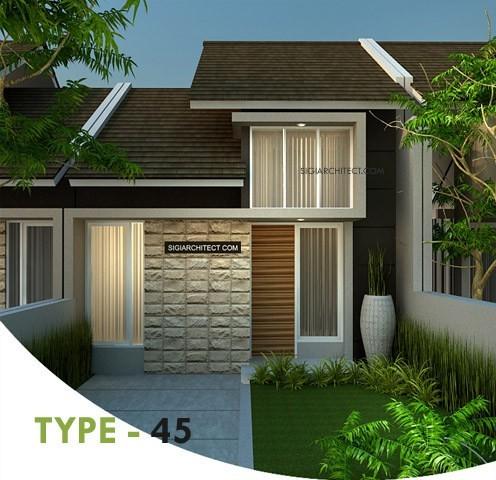 desain rumah minimalis type 45 tropis