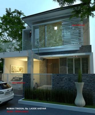 Denah Rumah Minimalis Model Rumah 2 Lantai Jasa Arsitek Desain