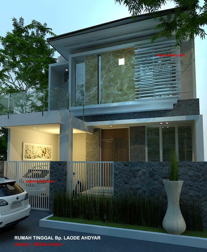 denah rumah minimalis model rumah 2 lantai