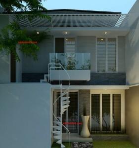 denah rumah minimalis tropis | model rumah 2 lantai