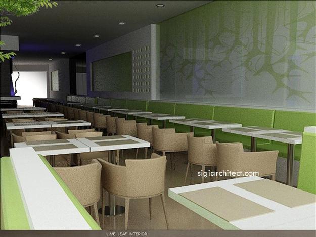 Desain Resto-Cafe Minimalis LimeLeaf
