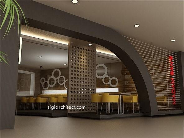 Desain Restoran Minimalis tropis 5