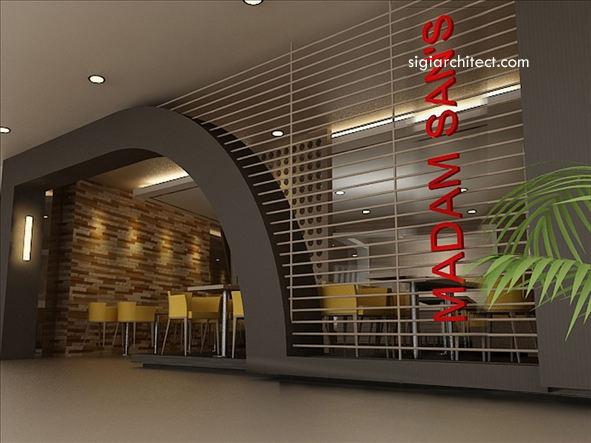 Desain Restoran Minimalis tropis