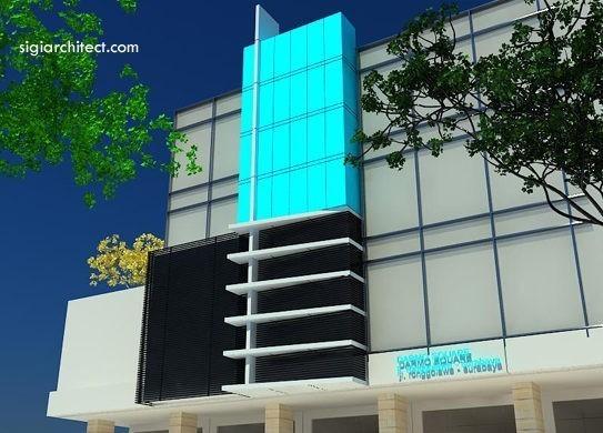 Desain Ruko-Fasad Kantor Minimalis 3