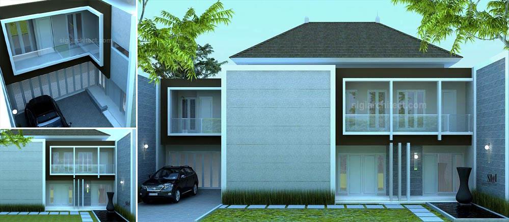 Desain Rumah Pojok Fasad Minimalis