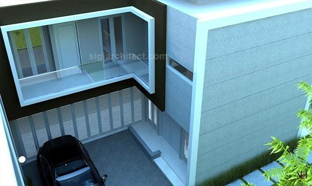 Rumah Pojok Fasad Minimalis 4