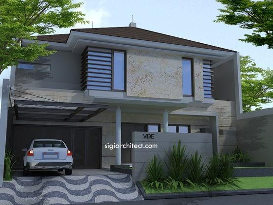 Fasad Rumah Tropis Minimalis 2