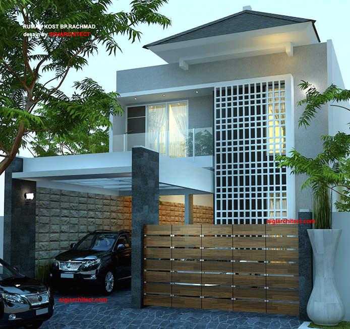 desain rumah kost 2 lantai minimalis 2