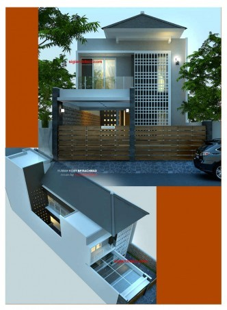 desain rumah kost 2 lantai minimalis