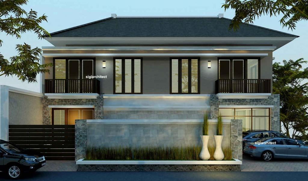 desain rumah tropis minimalis 4