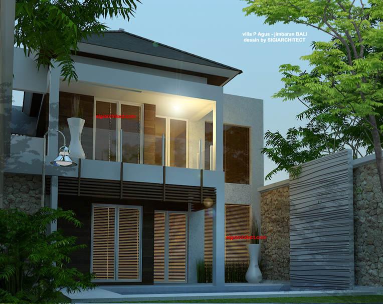 desain villa minimalis renovasi fasad 1