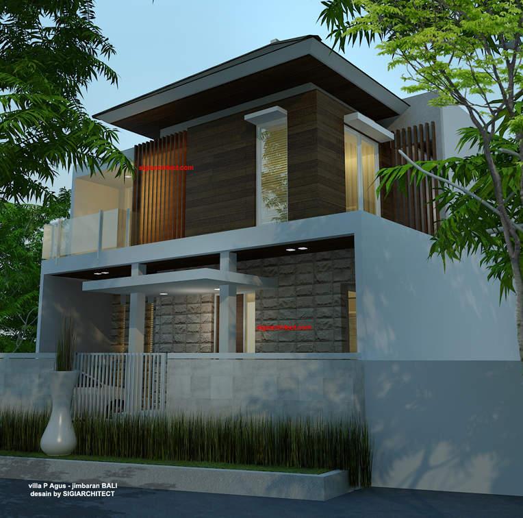 desain villa minimalis renovasi fasad 2