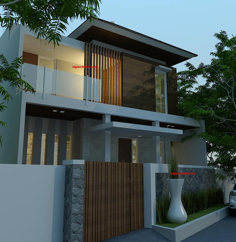 desain villa minimalis renovasi fasad