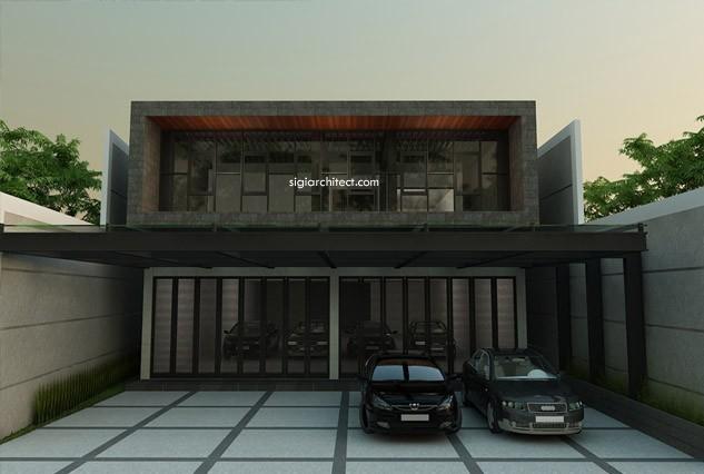 Desain Rukan-Fasad Rumah Kantor Minimalis