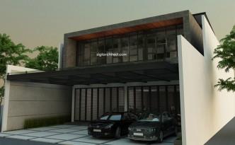 Desain Rukan-Fasad Rumah Kantor Minimalis 1
