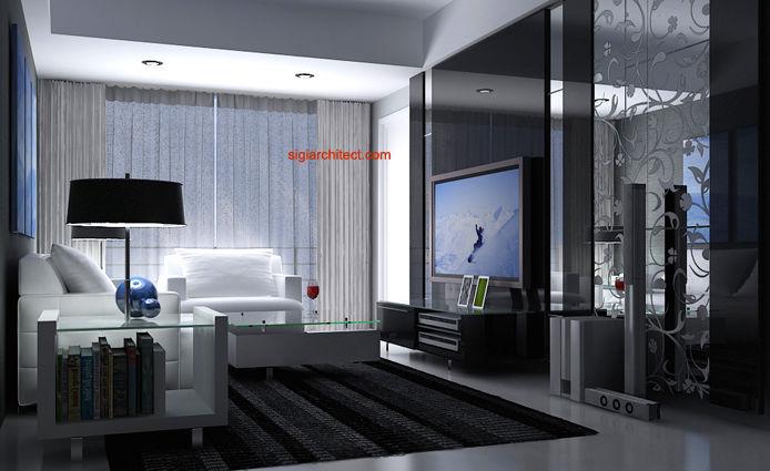 Desain interior apartemen minimalis modern Home decor interior design surabaya