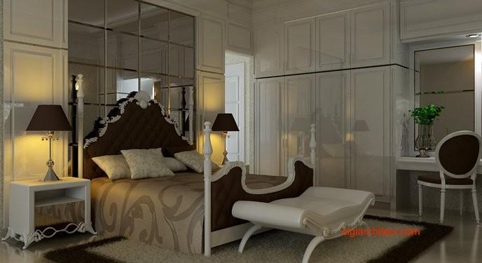 desain interior klasik kamar tidur bedroom