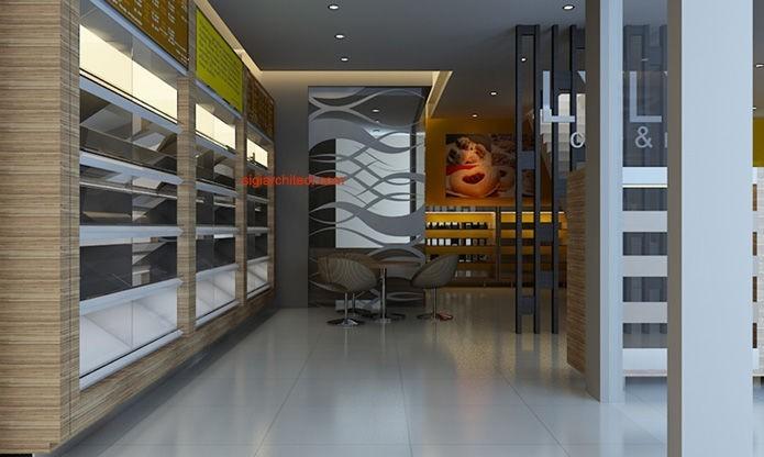 Desain Toko Roti & Cafe | Interior Minimalis