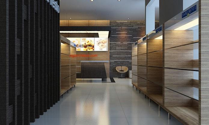 desain toko roti cafe interior minimalis