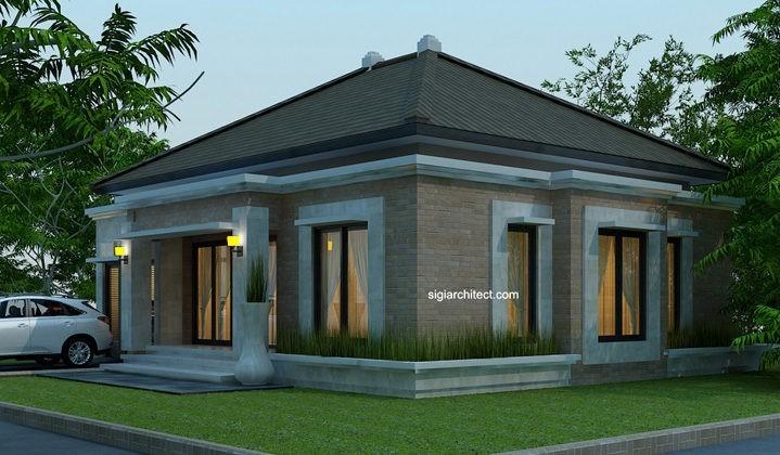 Desain Rumah Minimalis Dengan Halaman Luas desain rumah bali modern model rumah 4 tampak