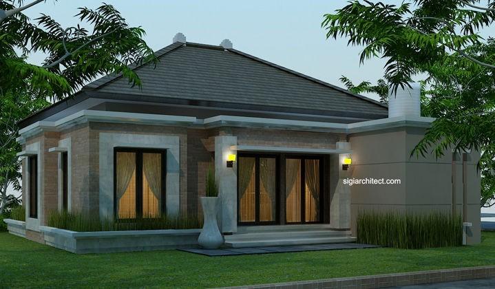 desain rumah bali modern model rumah 4 tampak