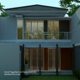 Denah Rumah Tinggal 2 Lantai | Modern Tropis