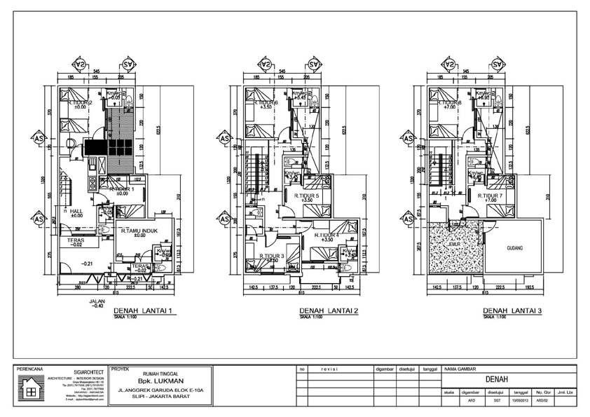 Denah Rumah Kost 3 Lantai | Rumah 2 Lantai-3