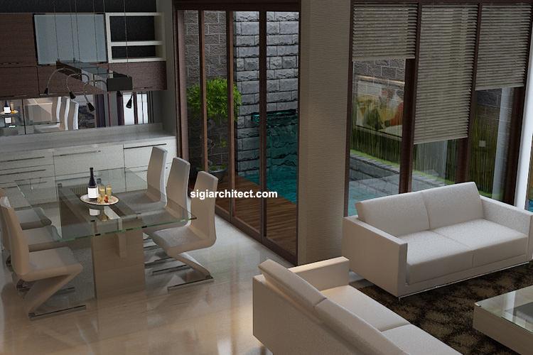 Interior Ruang Foyer : Desain rumah tinggal minimalis pagar depan jasa
