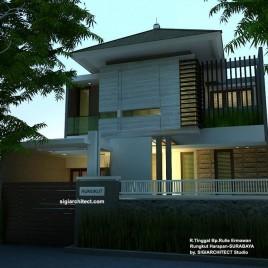 Desain Rumah Tinggal Minimalis | Desain Pagar Depan