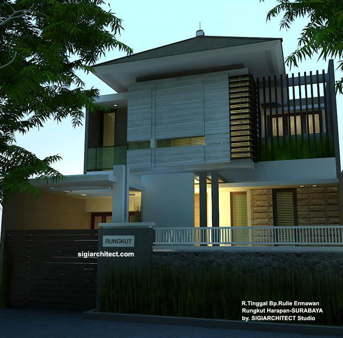 Desain Rumah Tinggal Minimalis Desain Pagar Depan