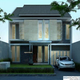 Desain Rumah 2 Lantai Tropis di Bandung