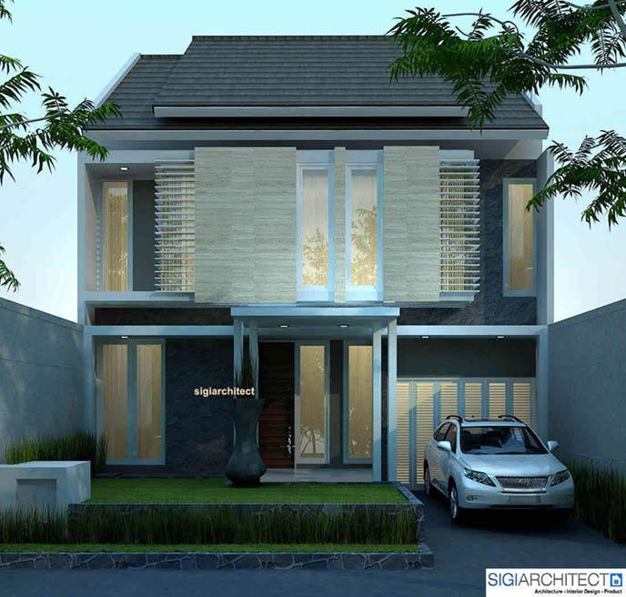 desain rumah 2 lantai _ Tampak Depan