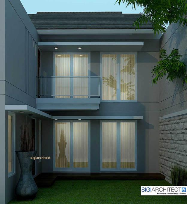 desain rumah 2 lantai _ Tampak Belakang