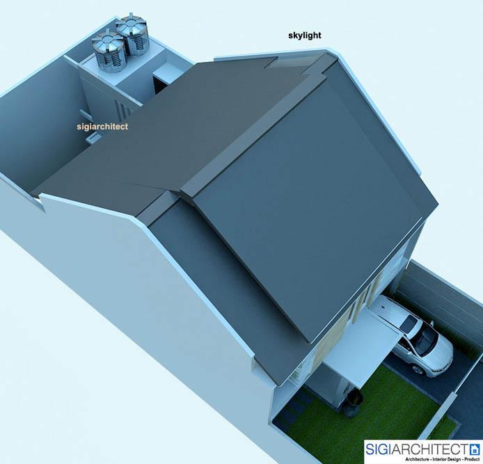 desain rumah 2 lantai _ Tampak Atap
