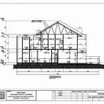 desain rumah 2 lantai _ Potongan memanjang