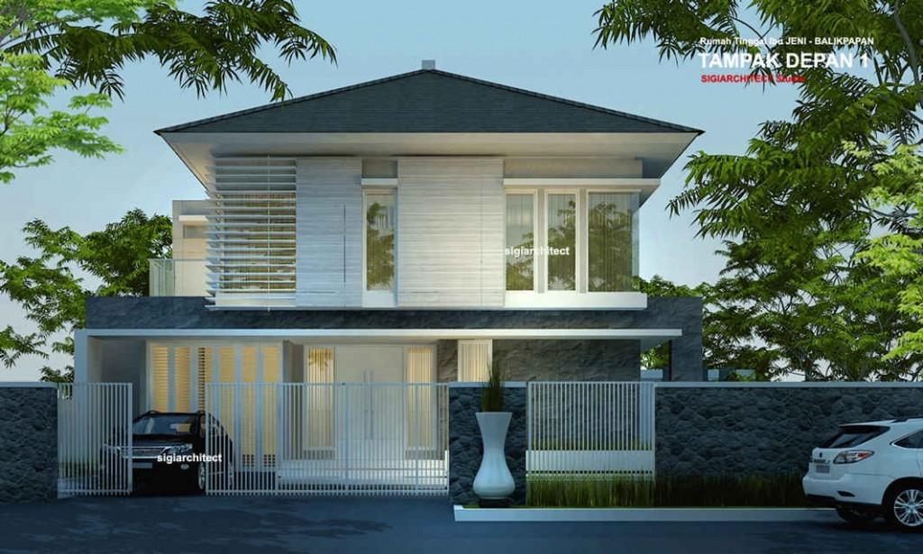 desain rumah sudut minimalis 2