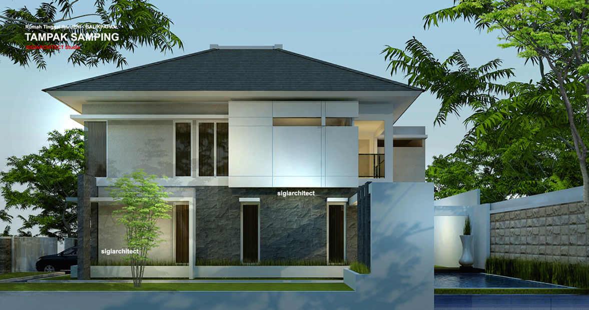 desain rumah sudut minimalis 3