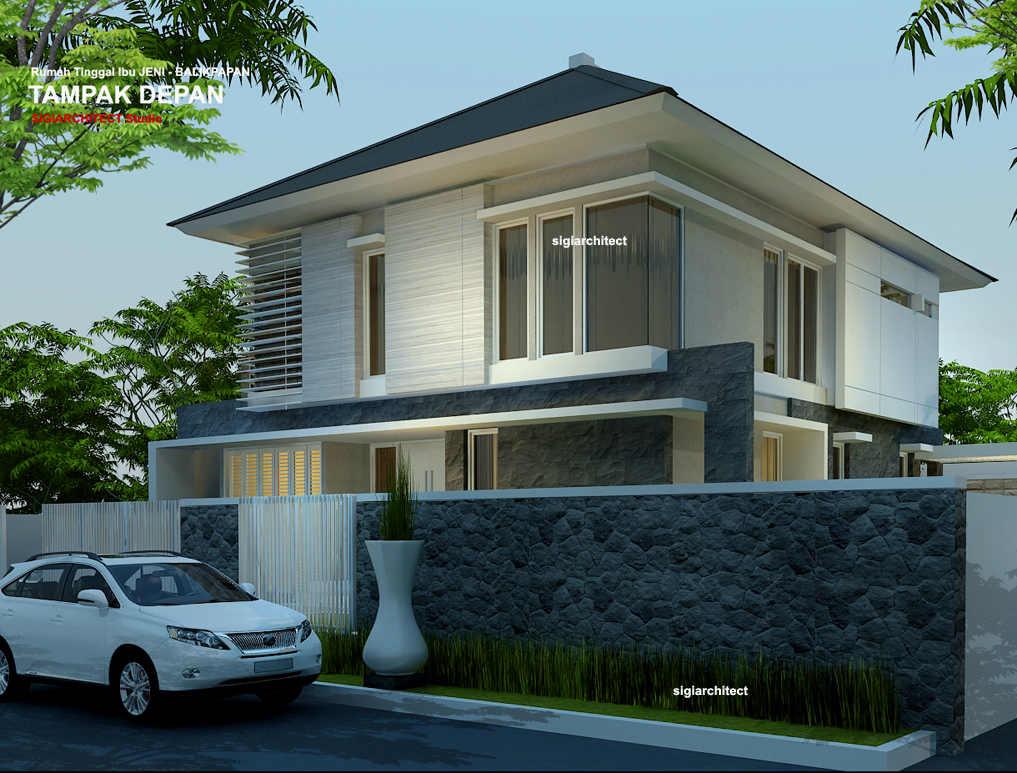 desain rumah sudut minimalis 2 lantai