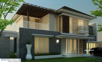 desain villa minimalis tropis | desain rumah 2-lantai
