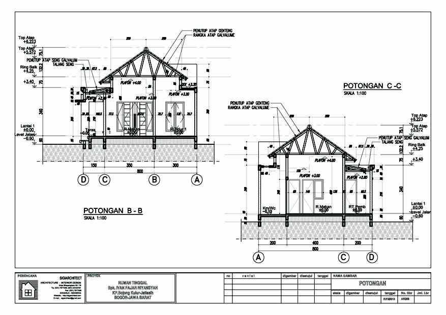 desain rumah type 54 60 rumah bali modern