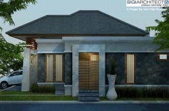 desain rumah type 54-60   model rumah 1 lantai bali modern