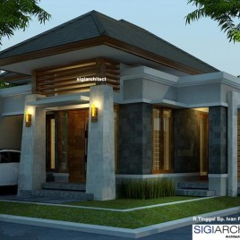 Desain Rumah Type 54-60 | Rumah Bali Modern
