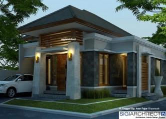 Desain Rumah Type 54-60_Tampak Sudut