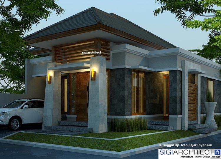 Desain Rumah 2 Lantai Dwg  desain rumah type 54 60 rumah bali modern