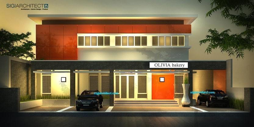 desain kantor modern pabrik roti bakery
