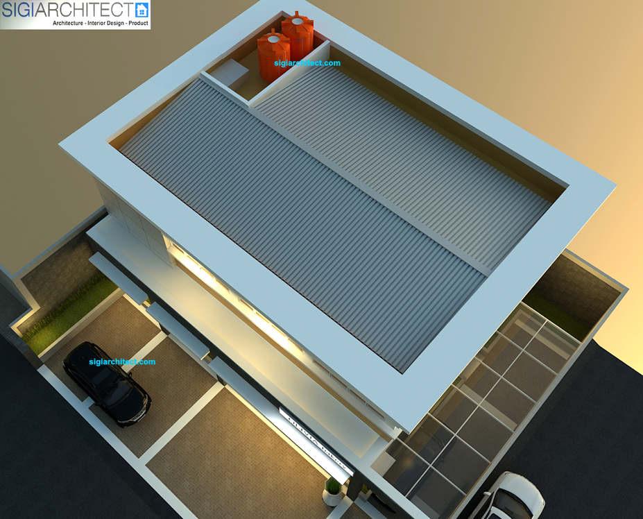 desain kantor modern pabrik roti bakery_atap