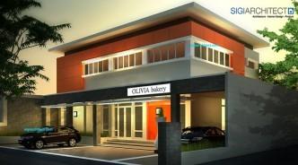 desain kantor modern pabrik roti bakery_fasade 2