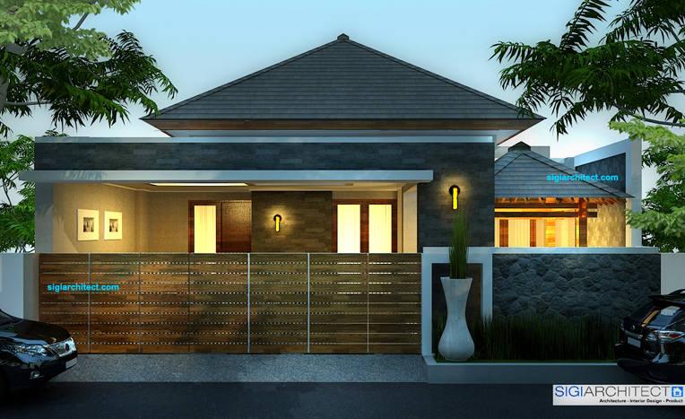 Rumah Modern Minimalis 200m2 Tropis Jasa Arsitek Desain Rumah