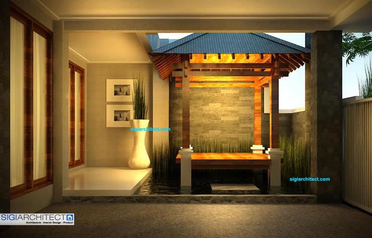 rumah modern minimalis_kolam & gazebo