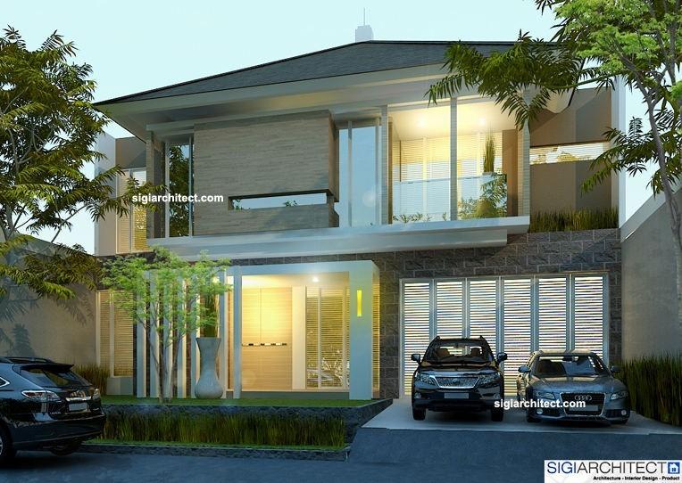 desain rumah mewah minimalis modern 2 lantai untuk rumah